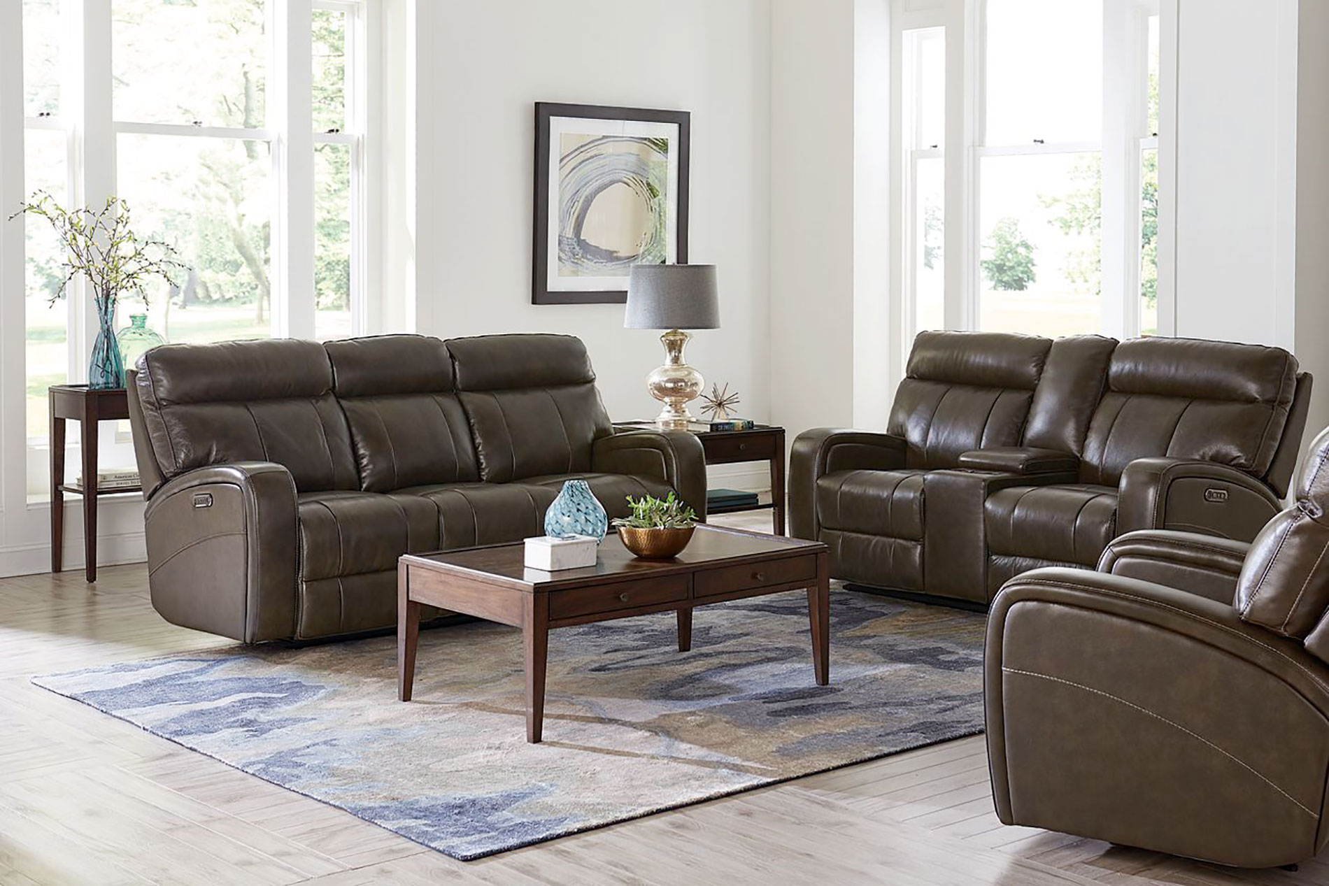 Bassett Leather Motion Sofa Review Home Co